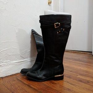 cdbd50cde55 Franco Sarto leather boots (wide calf) ...